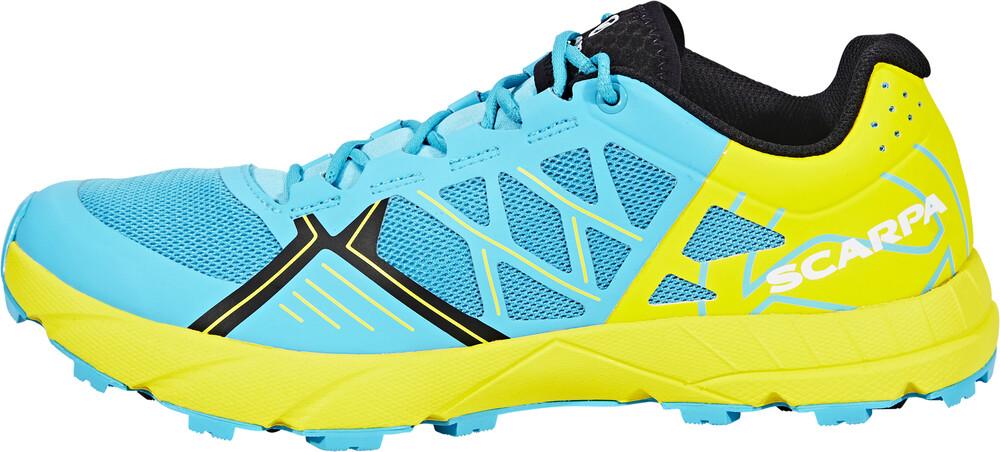 Scarpa Spin WMN Shoes Women scuba blue/lemon 37 2017 Trail Running Schuhe vy1TL